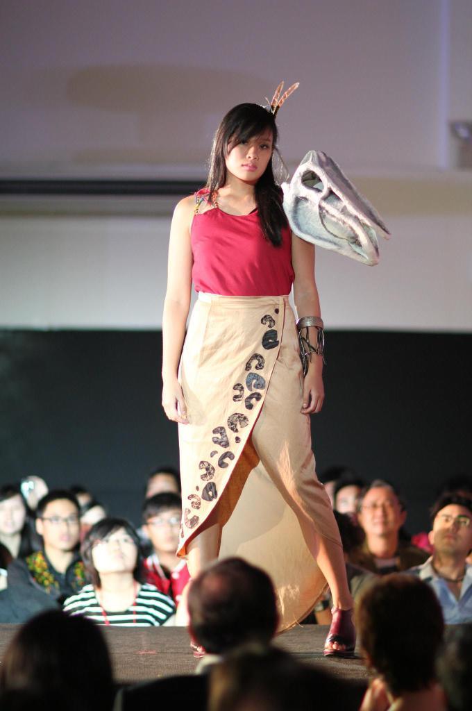 dinosaur-inspired dress by Aileen Pua