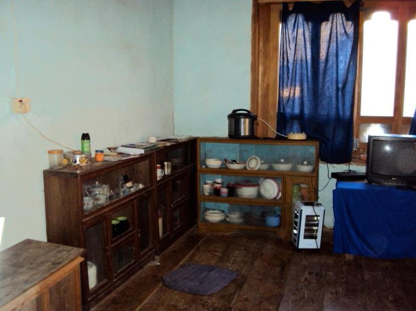 The simple interior of a Bhutanese farmhouse that we were fortunate enough to visit