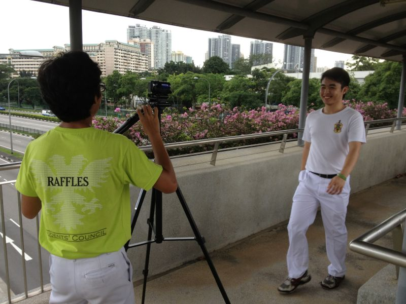 Adam and Wei Hing filming the publicity video