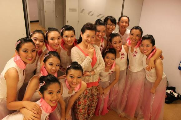 With our beloved instructor, Mdm Chen LiLi after Raffles Rhapsody
