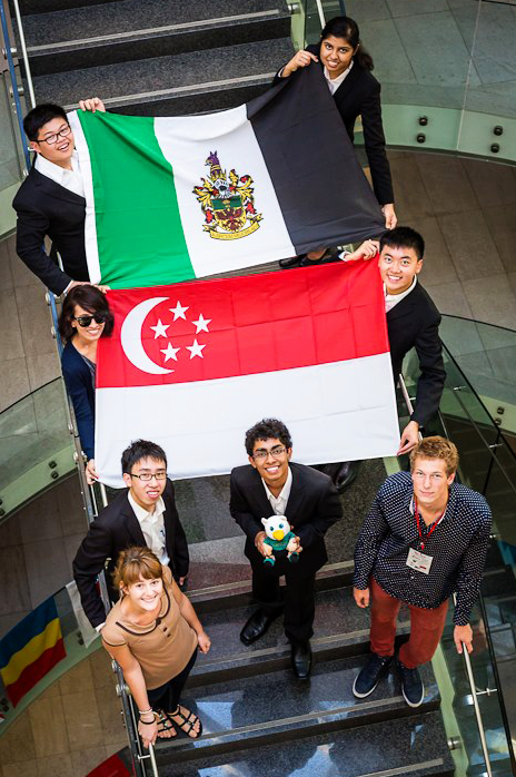 The team at Heart of Europe Debating Tournament