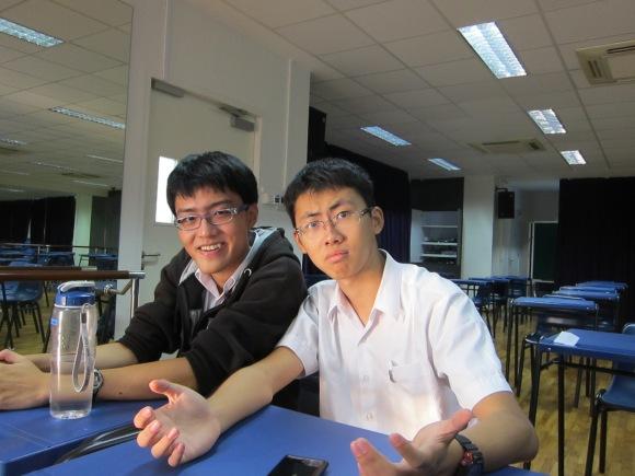 Two exceedingly friendly Gavel members