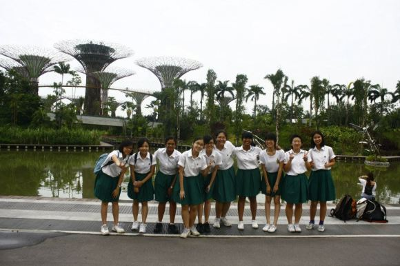 Informal outing to Gardens by the Bay. The above picture shows an incomplete CCA and is not representative of the gender ratio in the club.