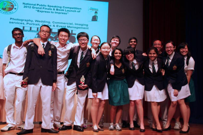 A club photo after the finals of the National Public Speaking Competition