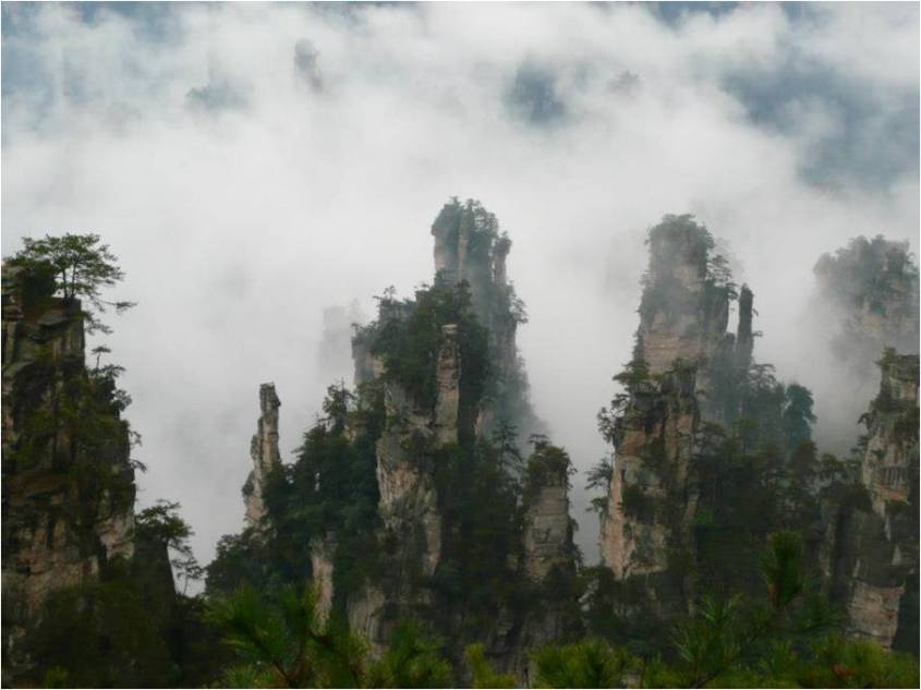 Just one of the many stunning views of Zhangjiajie
