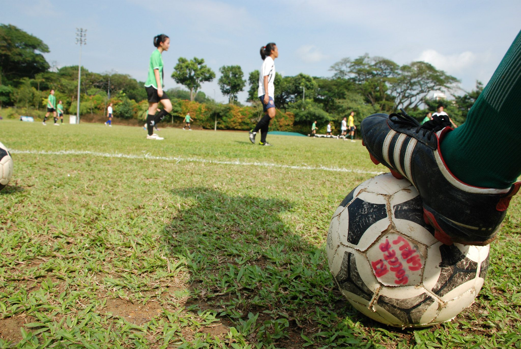 Foot Kicking Soccer Ball Icon Soccer is a game usually