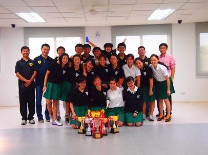 Mr Choo, Y1-4 teacher-; coach Li, A division sharpshooters, coach Qian and Mr Chan, Year 5 and 6 teacher-in-charge