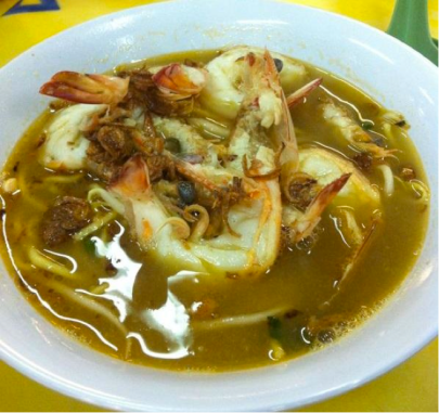 This prawn mee is well-known online and has many positive reviews on food websites.