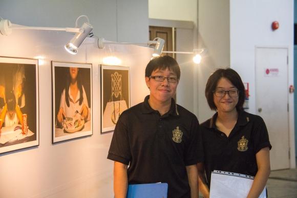Head curators Edwin Chow, left, and Kendra Xu, right.