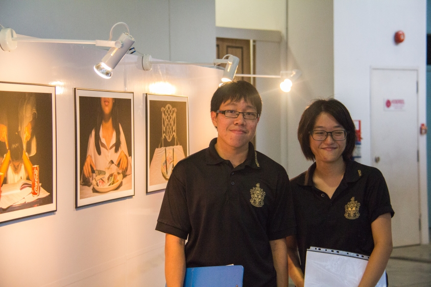 Head curators Edwin Chow, left, and Kendra Xu, right.