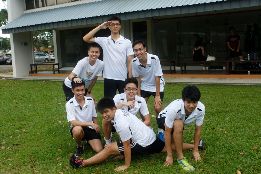 The Boys' A Div Squash Team after their 4-1 victory over HCI