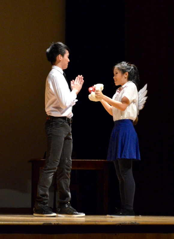 Deo Quek (left) stole the limelight in portions of the show