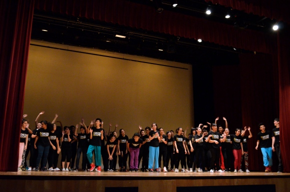 The show must go on: Street Dancers had fun on stage showing off their skills even after the final bows.