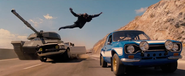 Logic-defying leaps are abound in Fast 6, as are leaps in logic