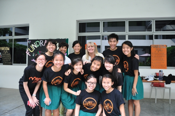 The Organizing Team with their teacher-in-charge, Mrs. Nicola Jane Perry and President of the BMDP, Jane Prior