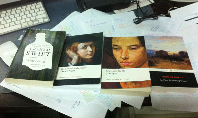 Some of the Literature texts used (Humanities Programme)