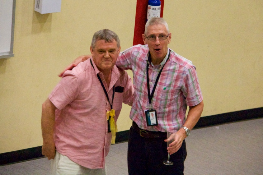 Mr Purvis with Mr Jamie Reeves, both colleague and friend throughout his time in Raffles and Singapore.