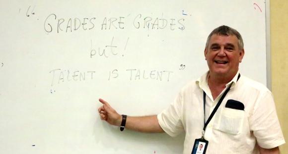 """Grades are grades, but Talent is talent."""