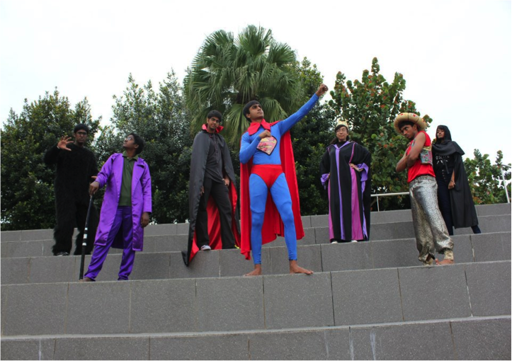 The Hero & Villains at Value-O-City Amazing Race
