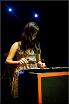 Clara Tay on the xylophone during ROCKOUT'13