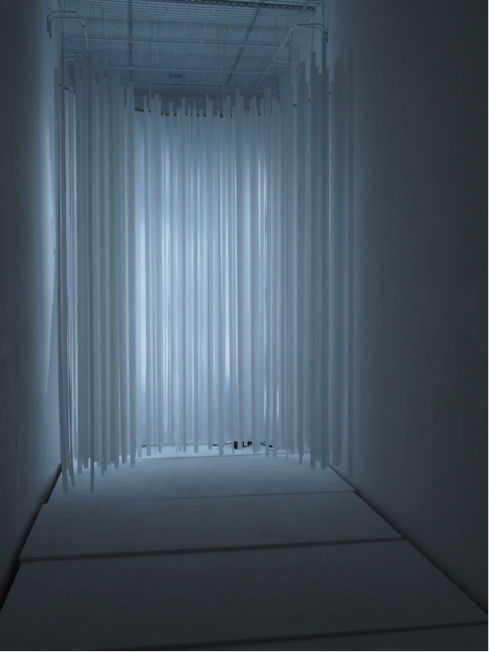 Chia Yu Xuan's installation drew on the properties of temples to create an immersive spiritual experience.