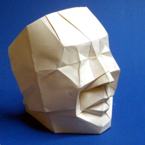 The Human Face: an origami piece by alumnus Mr Leong Cheng Chit
