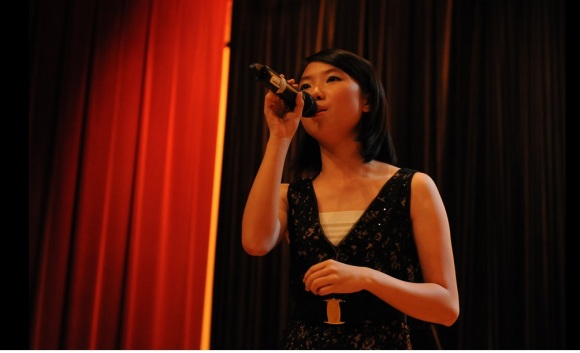 """Vocalist Melody Kang with her impressive rendition of """"A Felicidade"""""""