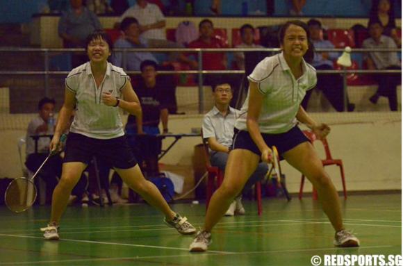 Joy and Jingwen Celebrating a Point