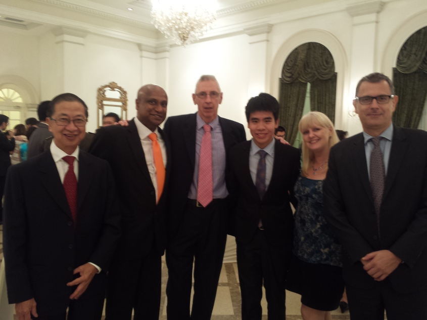 Tommy with Past RI-BOG chair Prof. Tan Ser Kiat, Acting PRI Mr. Mag, Mr. Michael Rollason, Mrs Nicola Perry and Mr. Jamie Reeves from the Humanities Programme