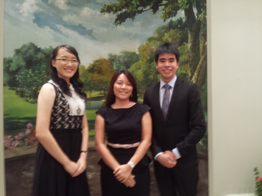 Tommy, Zi Xin, and their Council TIC Ms Michelle Kwok