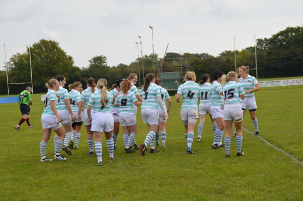 The Cambridge University Womens' Rugby Football Club (of which Samantha is a member) in action. [Source: Samantha Chan]