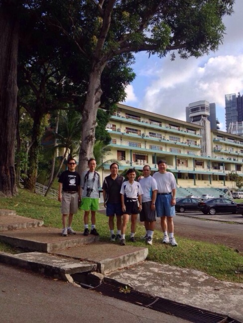 Mr Chan and his 02 Scout mates on an excursion to RI's old Grrange Road campus