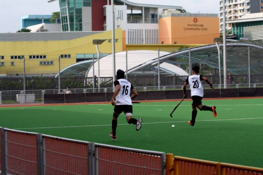 Anirudh Srivathsan and Harshvir Singh leading the counter-attack for the boys' team