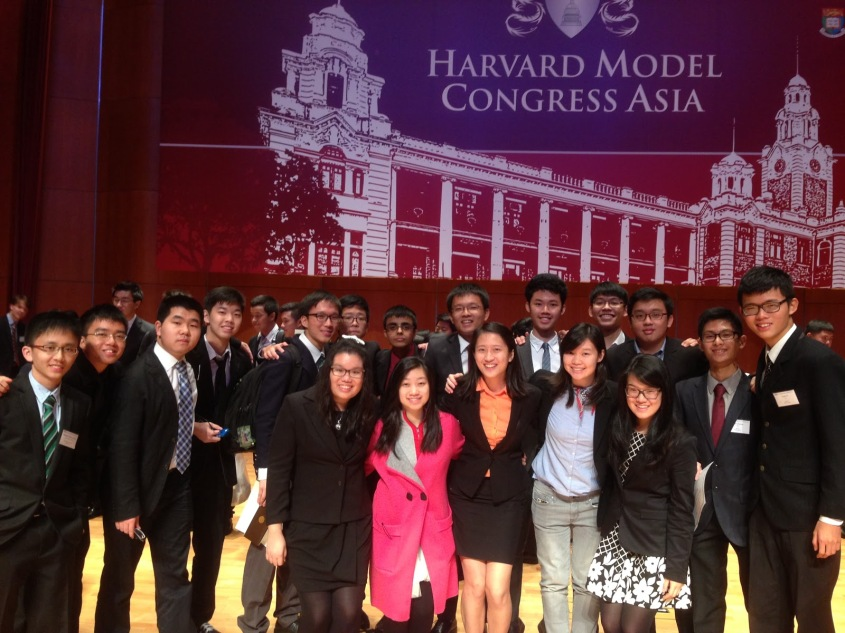 HSTA's representatives at the recently-concluded Harvard Model Congress Asia 2015