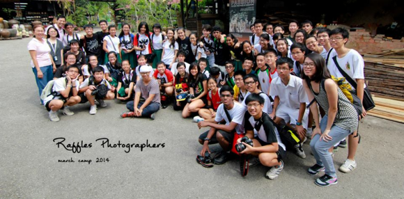 Raffles Photographers during an outing to the Dragon Kiln at Yio Chu Kang