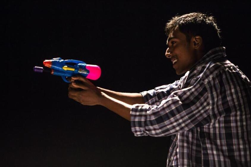 That's Naresh. That's also a water gun.
