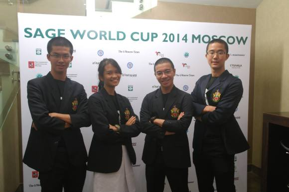 Team from REN representing Singapore at the SAGE World Cup 2014 in Moscow