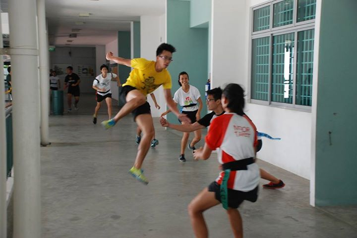 Intense game of Juggernaut/Running Man during Track Camp