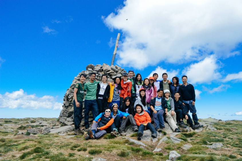 LBA'14 at the summit of Mount Bogong - tired but incredibly, wordlessly satisfied