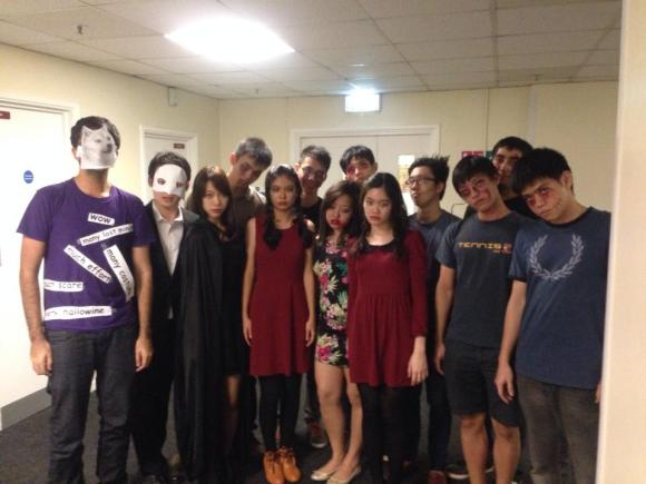 Hall Halloween party with the Singaporeans