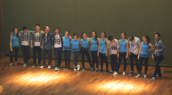 The MR dancers after their performance – tired, but happy. Photo by Choo Shuen Ming (16A01E)