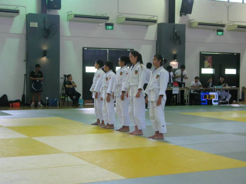 A Division Girls facing their opponents