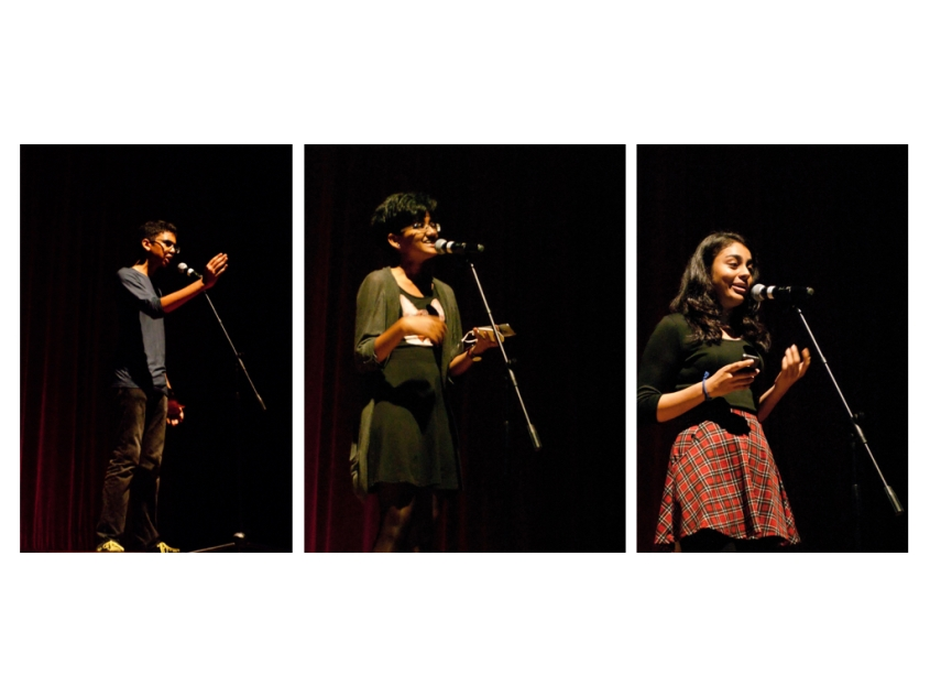 Rishi, Neha and Pranamika making words come alive