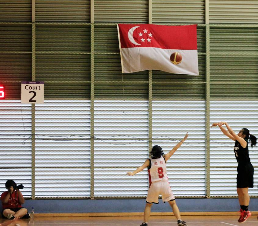 #12 Wei Jing's incredible 3 pointer, which cemented our lead at 40 - 36.