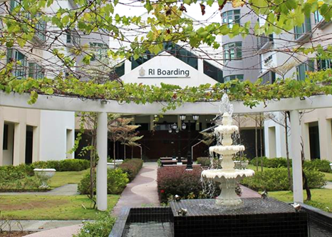RI Boarding's Courtyard– a pleasant place for boarders to chat, relax, or even study.