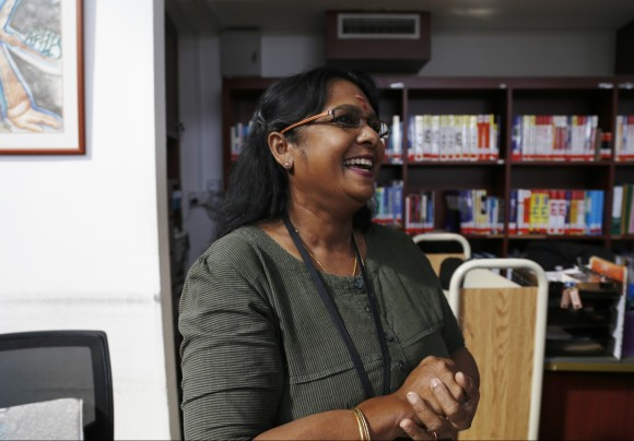 A veteran who has been at RI since 2004,  Mrs Kumar is in charge of the circulation of books and magazines.