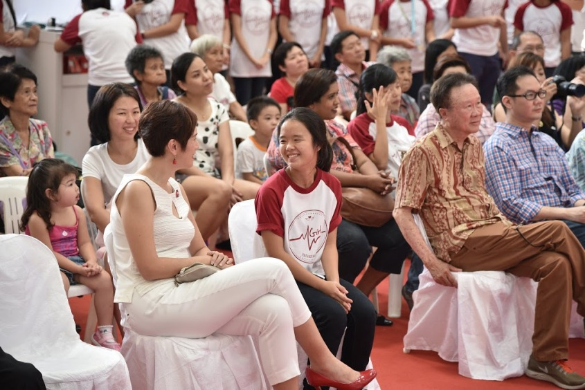 Isabel Lee, Head of YGH's organising committee with Ms Josephine Teo, Guest of Honor