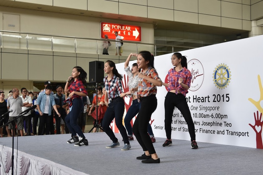 Raffles Street Dancers showing off their talent and skilful moves!