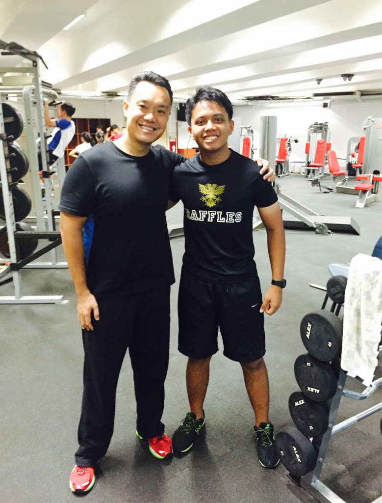 The author managed to snap a quick photograph with Mr Lim after the interview and a tiring gym session together.