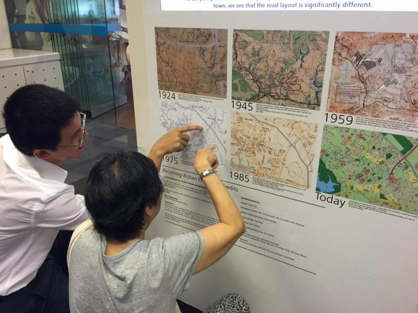 The highlight is a series of maps of Bishan tracing the landscape of changes from 1924 to the present .